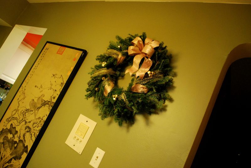 Wreath in situ